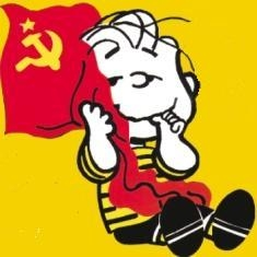 snoopy bandiera rossa