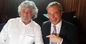 Grillo Farage insieme