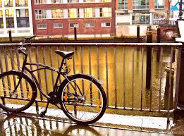 Amburgo pioggia bicicletta
