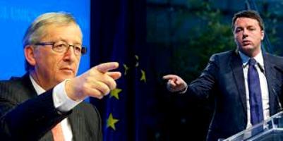 scontro Renzi Juncker