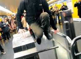 salto tornello metro